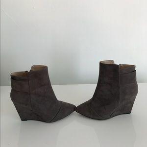 Grey Suede Zara Wedge Booties